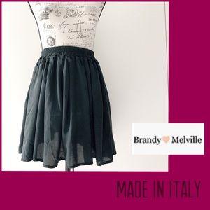 Brandy & Melvin Black Skirt Made in Italy